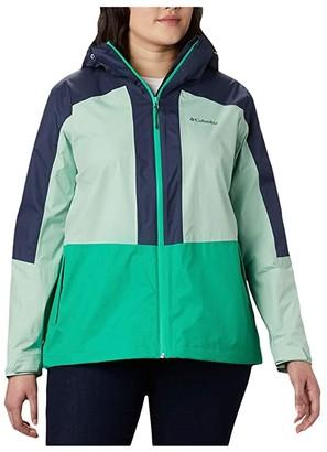 Columbia Plus Size Windgatestm Jacket (Dark Lime/New Mint/Nocturnal) Women's Coat