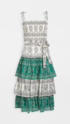 Tory Burch Printed Ruffle Dress