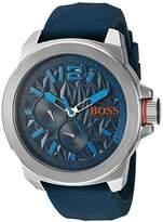 HUGO BOSS BOSS Orange Men's Quartz Stainless Steel and Silicone Watch