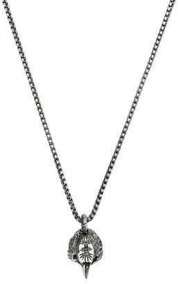 Gucci Anger Forest Eagle Necklace 55 Cm Sterling Silver With Aureco Finishing