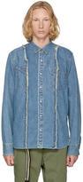 Sacai Blue Denim Patchwork Shirt