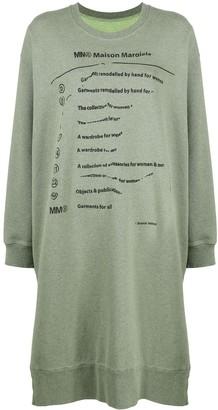 MM6 MAISON MARGIELA Explanation-print sweatshirt dress