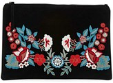 Forever 21 FOREVER 21+ Floral Embroidered Clutch
