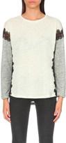 Sandro Joy linen-jersey top