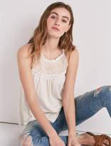 Lucky Brand Sleeveless Embroidered Yoke Top