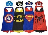 WOOLIN Hero Dress Up Costumes 4 Satin Capes and 4 Felt Masks For Boys