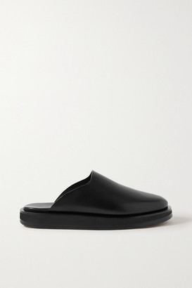 The Row Sabot Leather Mules - Black