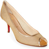 Christian Louboutin Kitty Mesh Peep Toe Pumps