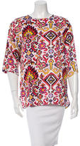 Dries Van Noten Satin Digital Print Top