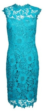 Dorothy Perkins Womens Showcase Teal 'Erica' Lace Dress