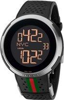 Gucci Men's I YA114103 Black Rubber Swiss Quartz Watch with Digital Dial
