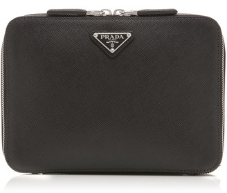 Prada Travel E/W Saffiano Leather Backpack
