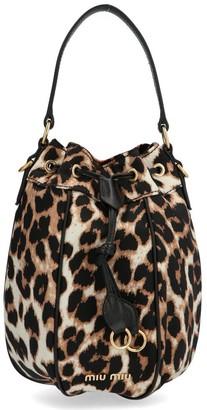 Miu Miu Animal Print Bucket Bag