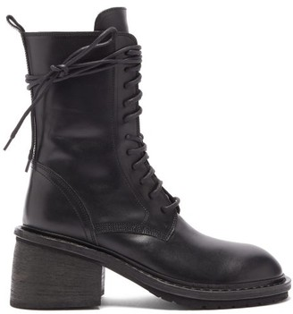 Ann Demeulemeester Block-heel Leather Boots - Womens - Black