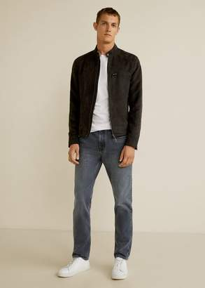 MANGO MAN - Regular fit grey wash Bob jeans denim grey - 28 - Men