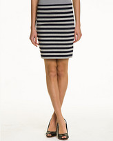 Le Château Stripe Jersey Mini Skirt