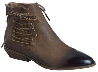 Antelope Side Corset Leather Bootie