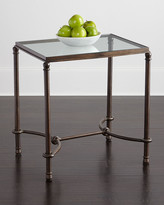 Horchow Hanigan Glass-Top End Table