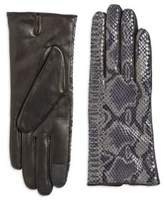 Carolina Amato Vent Palm Leather Gloves
