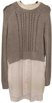 French Connection Grey Cotton Dress for Women