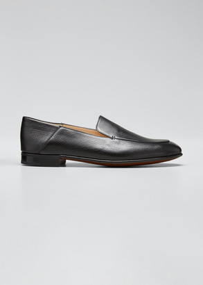 Gravati Flat Leather Smoking Loafer