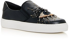 Kurt Geiger Women's Leah Embellished Slip On Sneakers