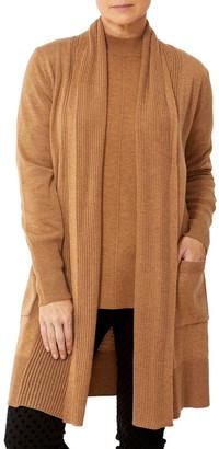 PINGPONG Wool Blend Longline Cardigan