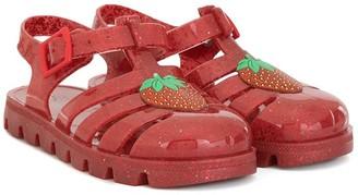 Sophia Webster Mini Strawberry jelly sandals