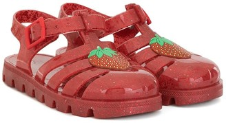 Sophia Webster Mini Strawberry jelly sandals