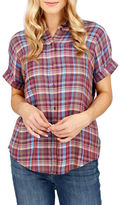 Lucky Brand Plaid Blouse