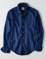American Eagle AEO Slim Indigo Button Down Shirt