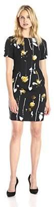 Adrianna Papell Women's WTRCLR RS CLRBLD PRT STH Dress,Size 8