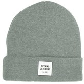 Opening Ceremony Logo Knitted Beanie Light Grey