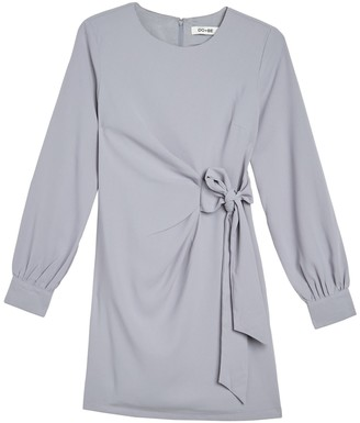 Do & Be Long Sleeve Tie Front Dress