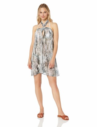 Kenneth Cole New York Women's Keyhole Halter Beach Cover Up Dress