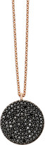 Astley Clarke Icon 14ct rose-gold and black diamond pendant