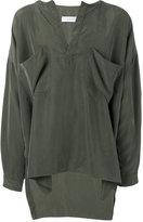 Faith Connexion chest pockets oversized shirt