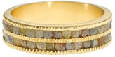 Todd Reed 2mm Sawn Diamond Double Eternity Band Ring in 18K Gold