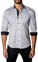 Jared Lang Striped Paisley Cotton Sportshirt