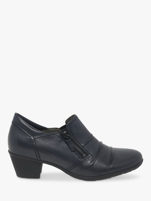 Gabor Sherbert Leather Shoe Boots, Navy