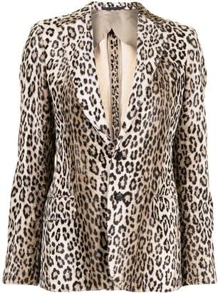 R 13 Leopard-Print Blazer