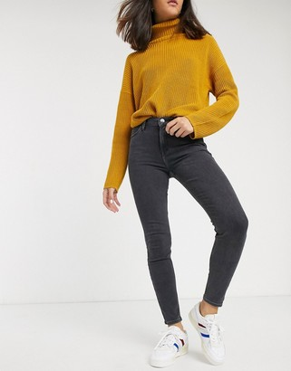 Lee Jeans Scarlett high rise skinny jeans-Black