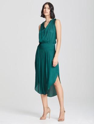 Halston Smock Waist Dress