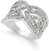 INC International Concepts Silver-Tone Pavé Crystal Galaxy Ring , Only at Macy's