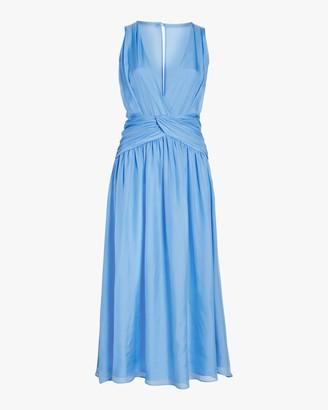 Divine Heritage Sleeveless V Neck Midi Dress