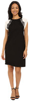 KUT from the Kloth Shift Dress w/ Contrast Shoulders