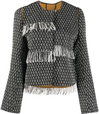 Dorothee Schumacher Fringed Tweed Jacket