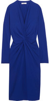 Lanvin Twist-front Jersey Dress - Royal blue