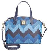 Dooney & Bourke Denim Chevron Ruby Satchel