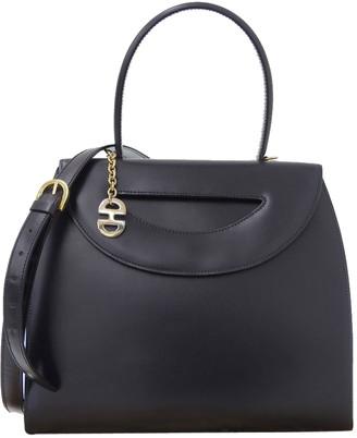 Celine Navy Blue Vintage Leather Satchel Bag